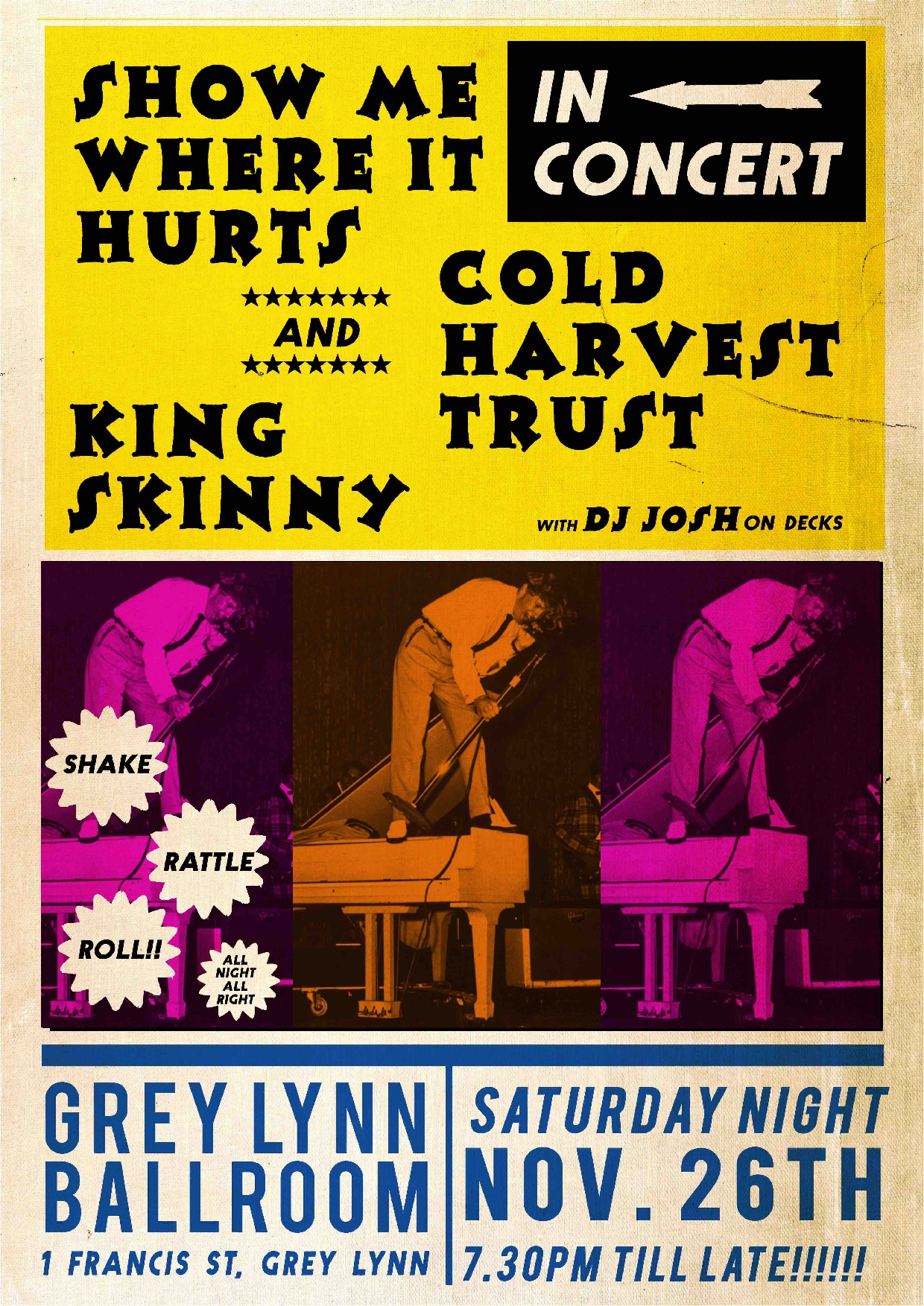 In Concert - Show Me Where It Hurts,  King Skinny,  Cold Harvest Trust