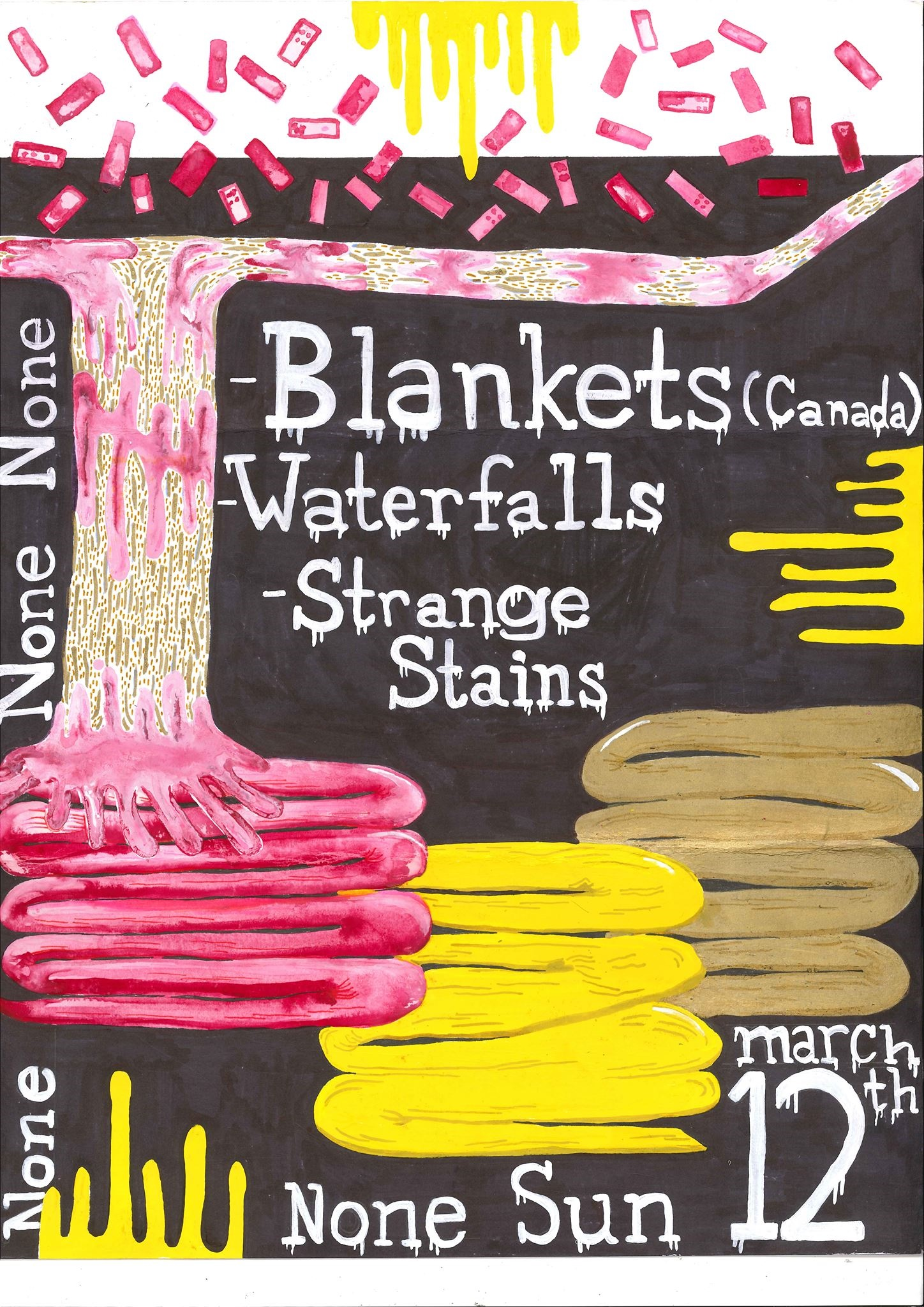 Blankets Canada, Waterfalls, and Strange Stains
