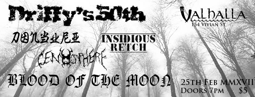 Black Metal Party with Blood of the Moon, Cenosphere and more