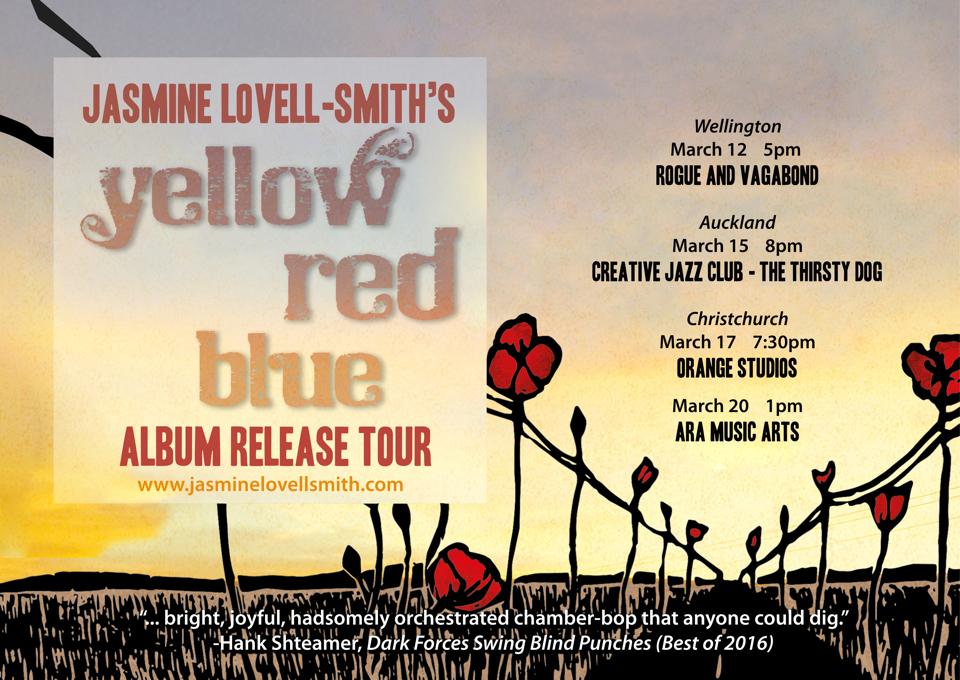 Jasmine Lovell-Smith - Yellow Red Blue Album Release