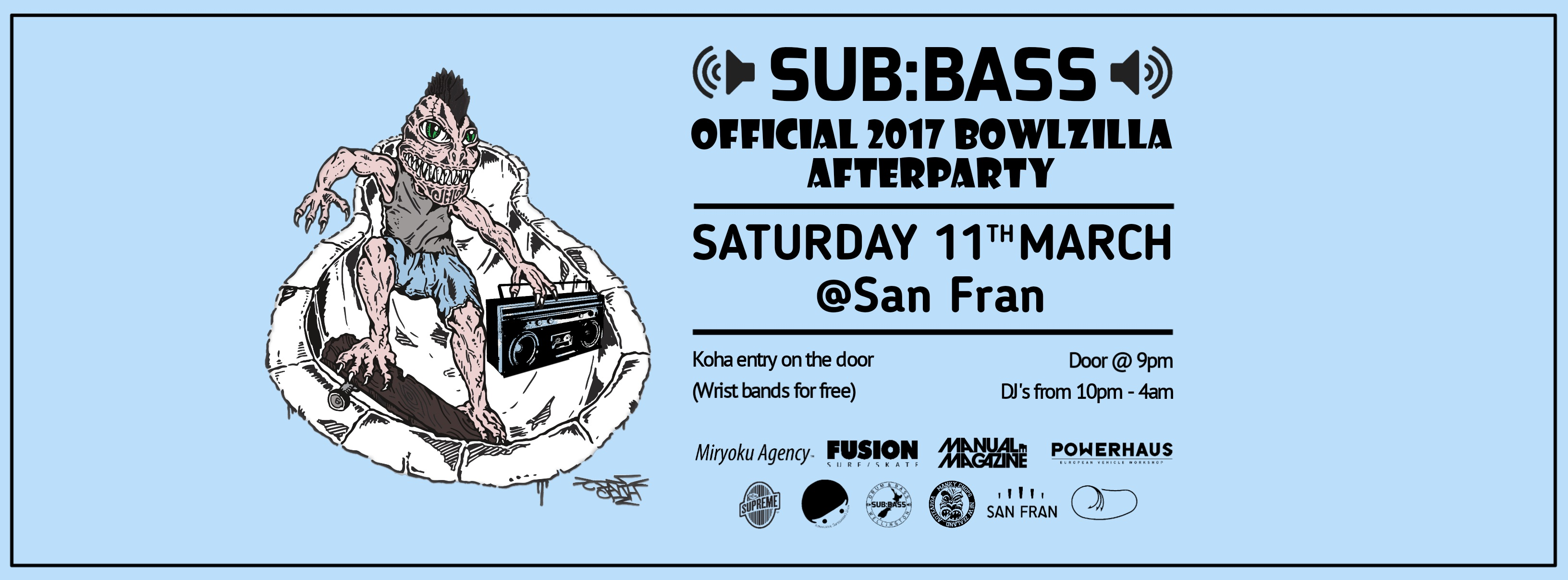 Subbass X Bowlzilla Official Afterparty