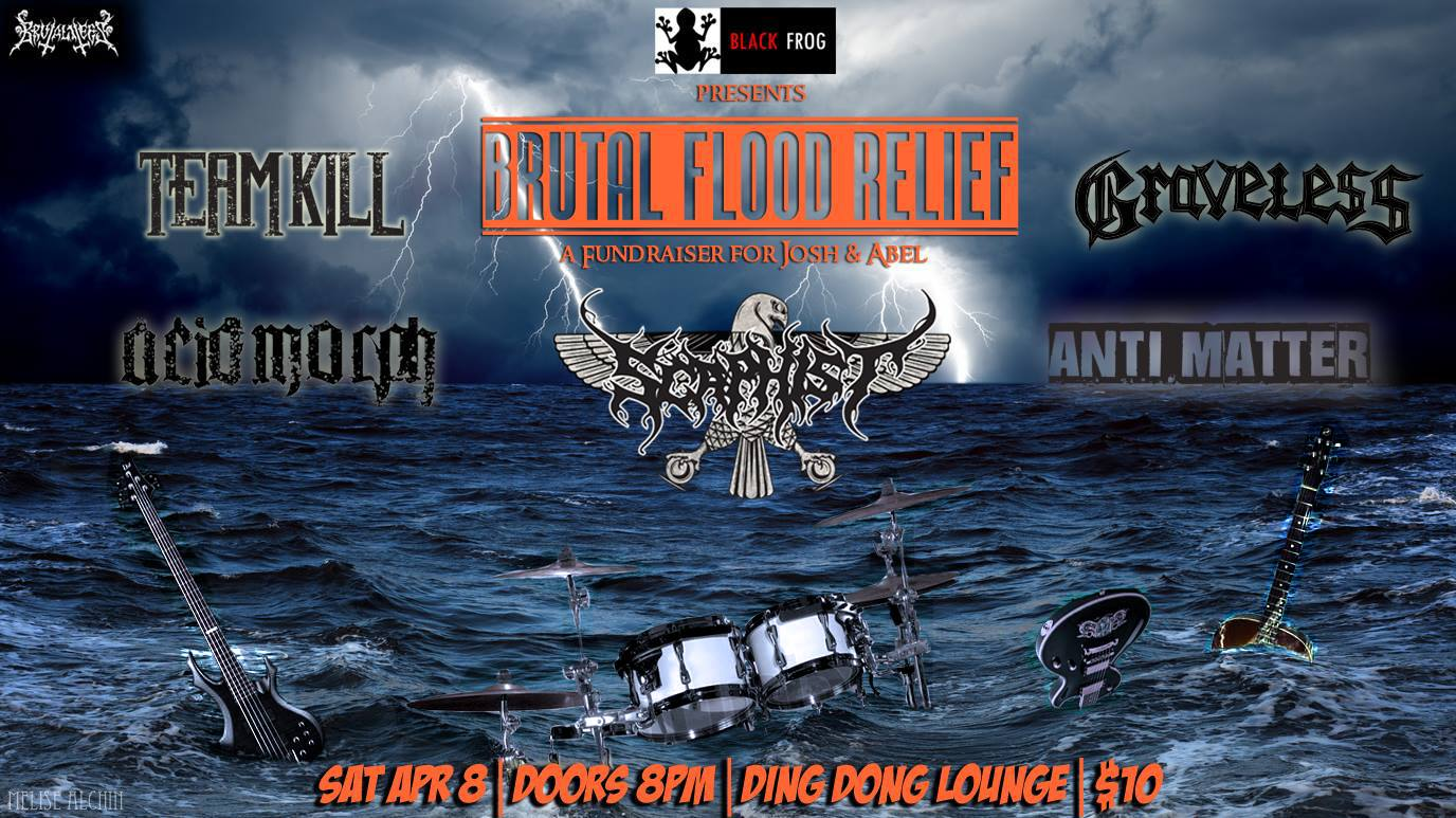 Brutal Flood Relief Fundraiser For Abel And Josh Featuring Scaphist and More