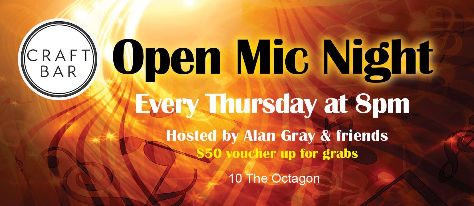 Open Mic Night At Craft Bar