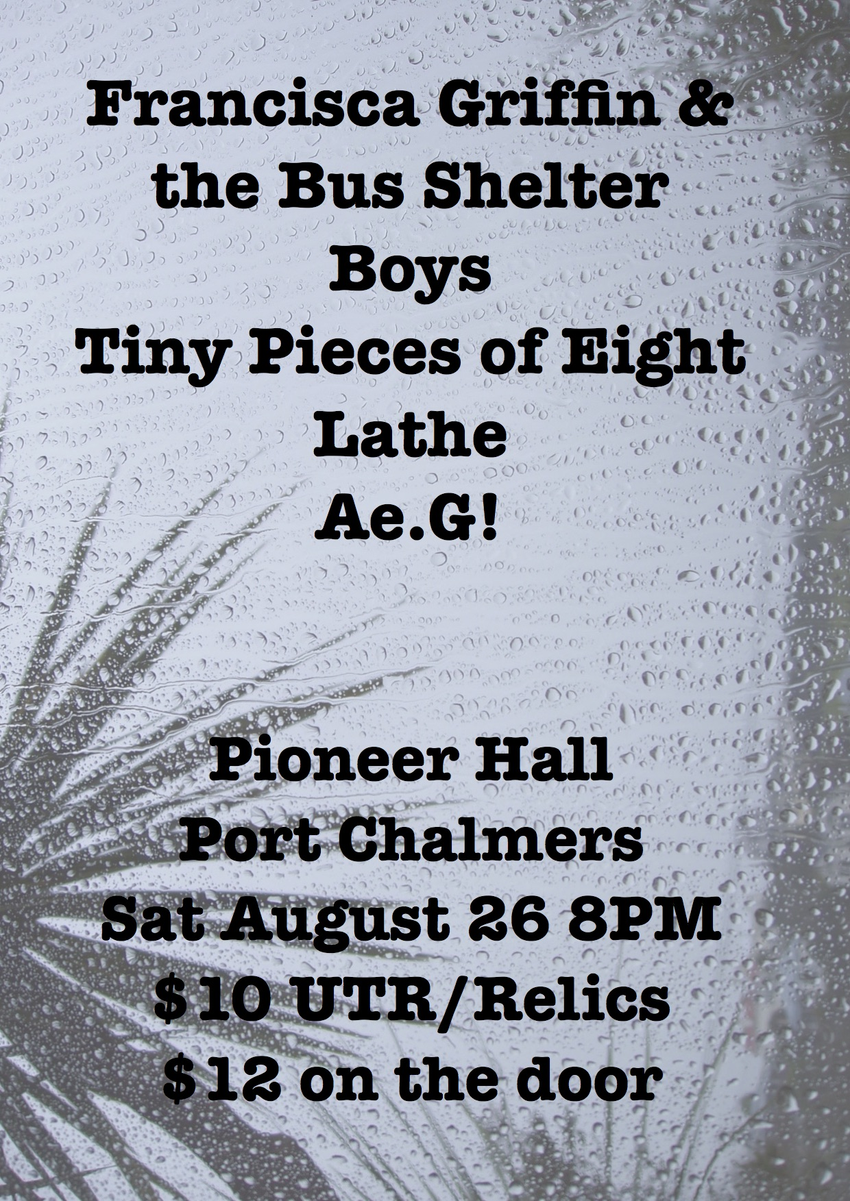 Francisca Griffin and The Bus Shelter Boys with Tiny Pieces Of Eight + More