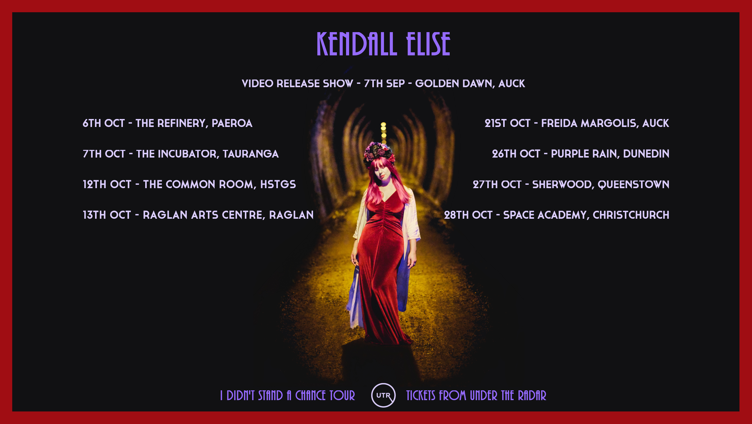 Kendall Elise - I Didn't Stand A Chance Tour