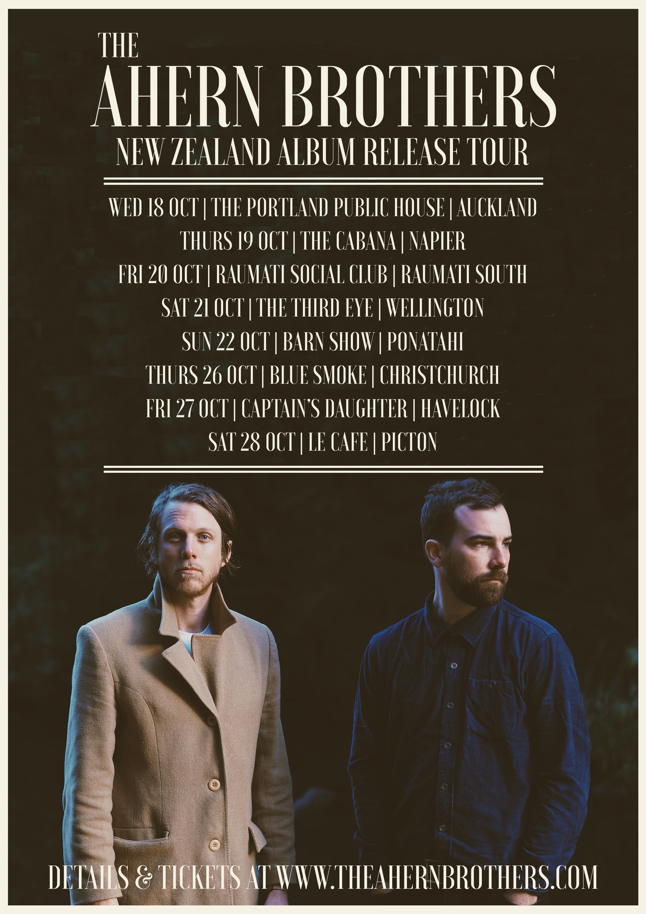 The Ahern Brothers Album Release Tour