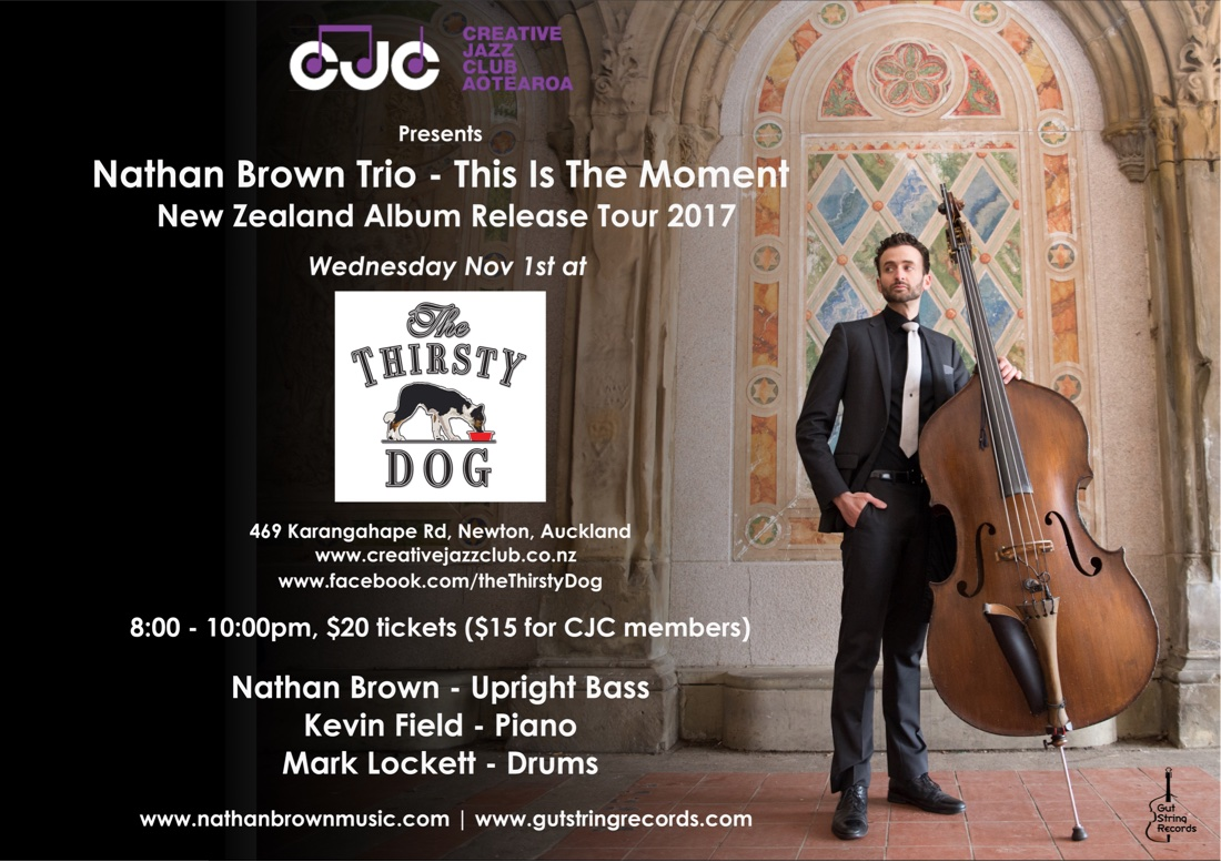 Nathan Brown Trio 'This Is The Moment' Album Release Show