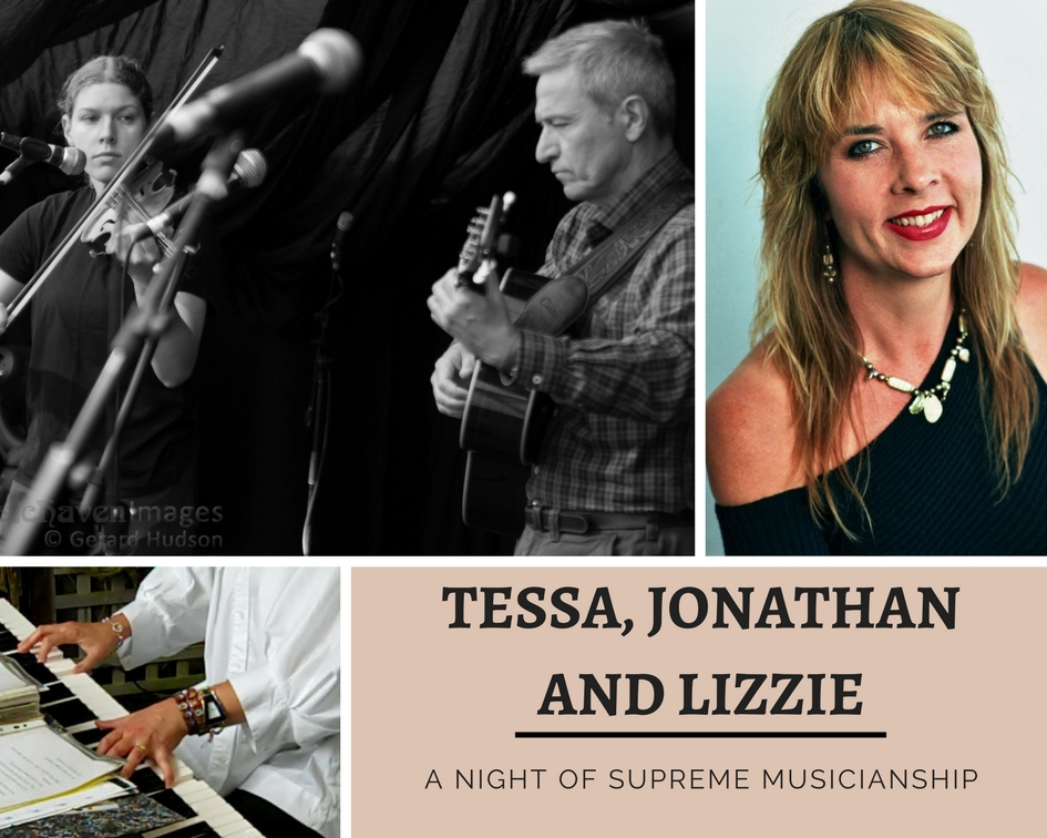 Tessa White and Johnathan Le Cocq with Lizzie Braggins