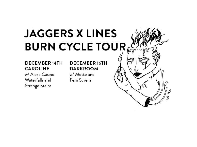 Jaggers X Lines, Alexa Casino, Waterfalls, Strange Stains