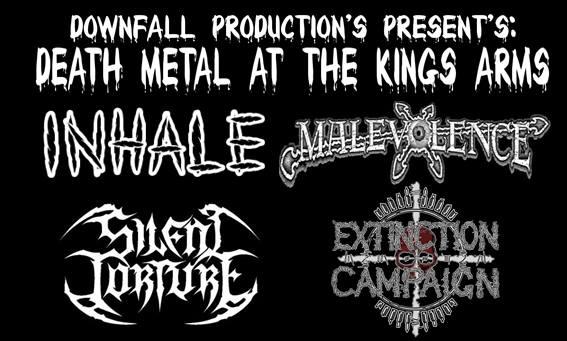 Death Metal At The Ka -  Inhale, Malevolence + More