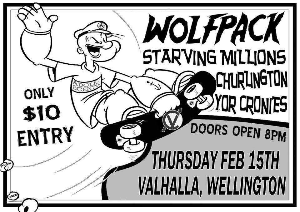 Wolfpack, Starving Millions, Churlington, Yor Cronies