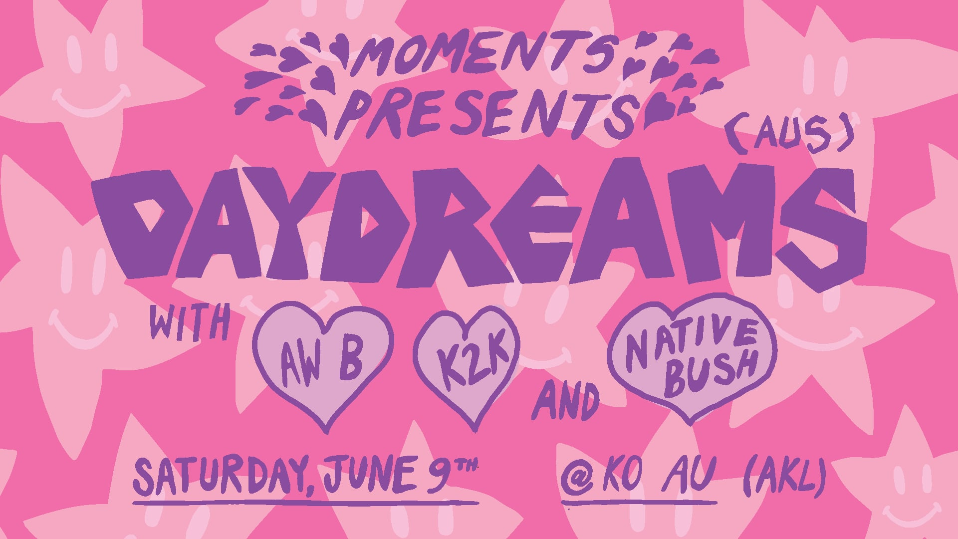 Daydreams with K2k, Native Bush and Aw B