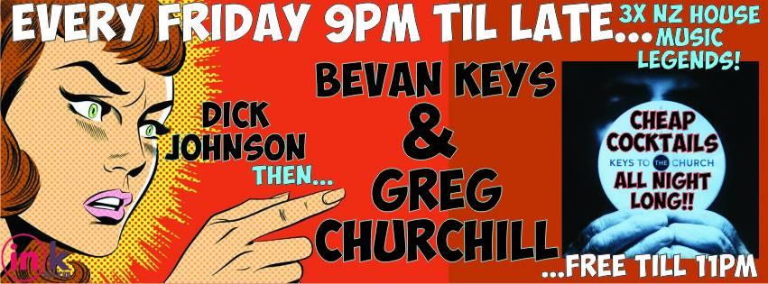 Greg Churchill, Bevan Keys, Dick Johnson