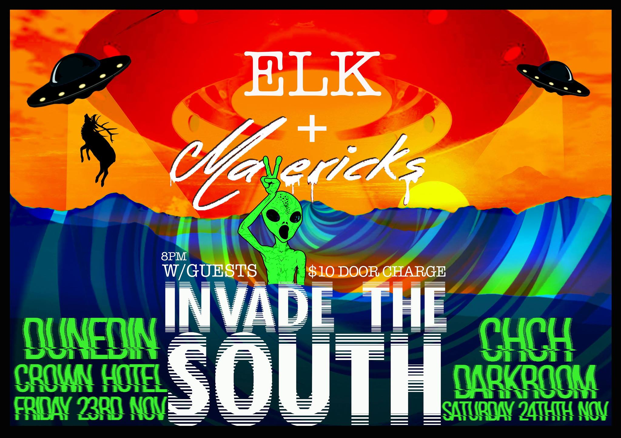 ELK and Mavericks 'Invade The South' Tour