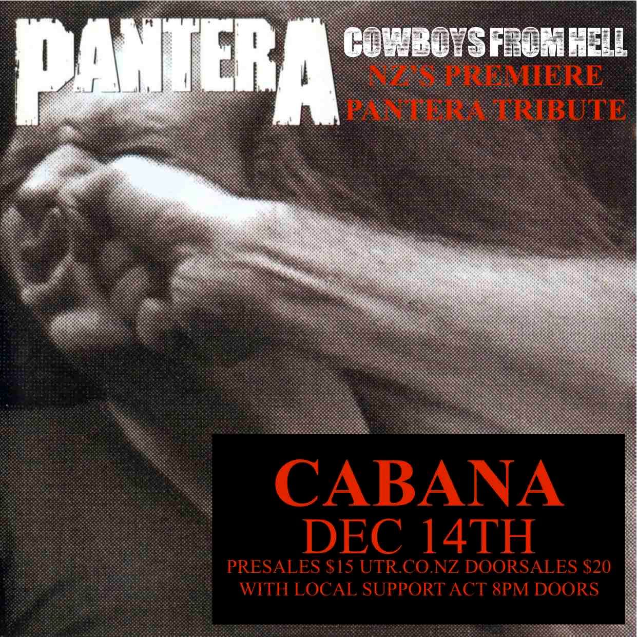 Cowboys From Hell (Pantera Tribute) - Tours at Undertheradar
