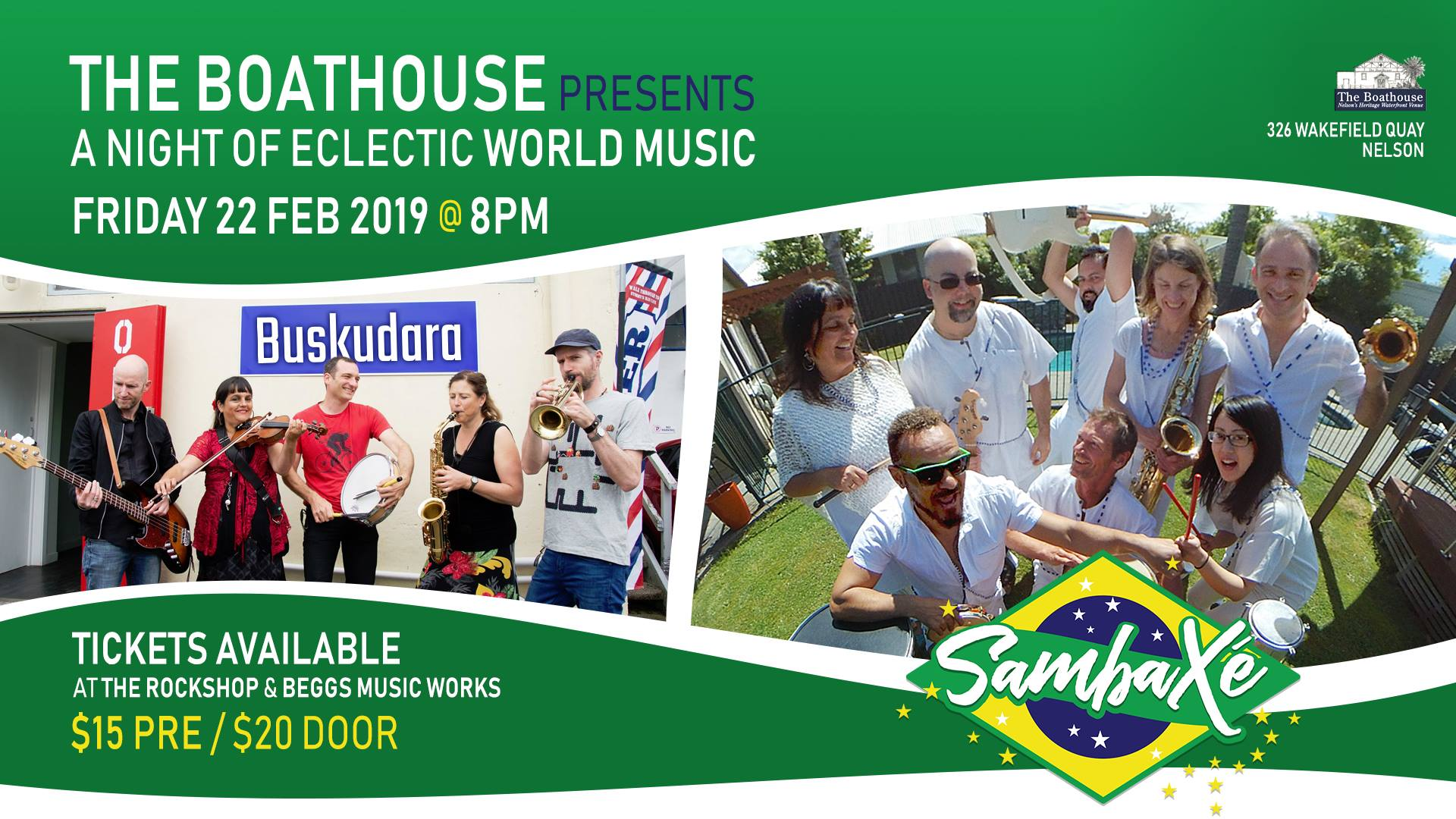 World Music with Sambaxe and Buskdura