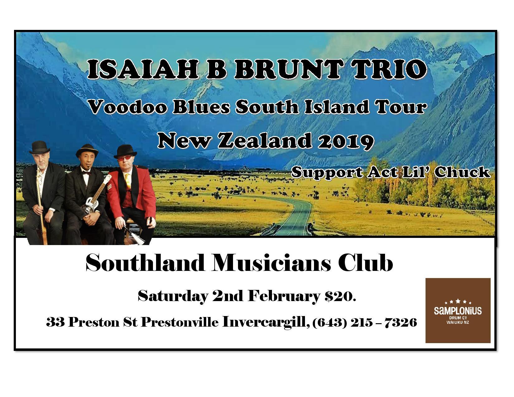 Isaiah B Brunt Trio NZ Tour