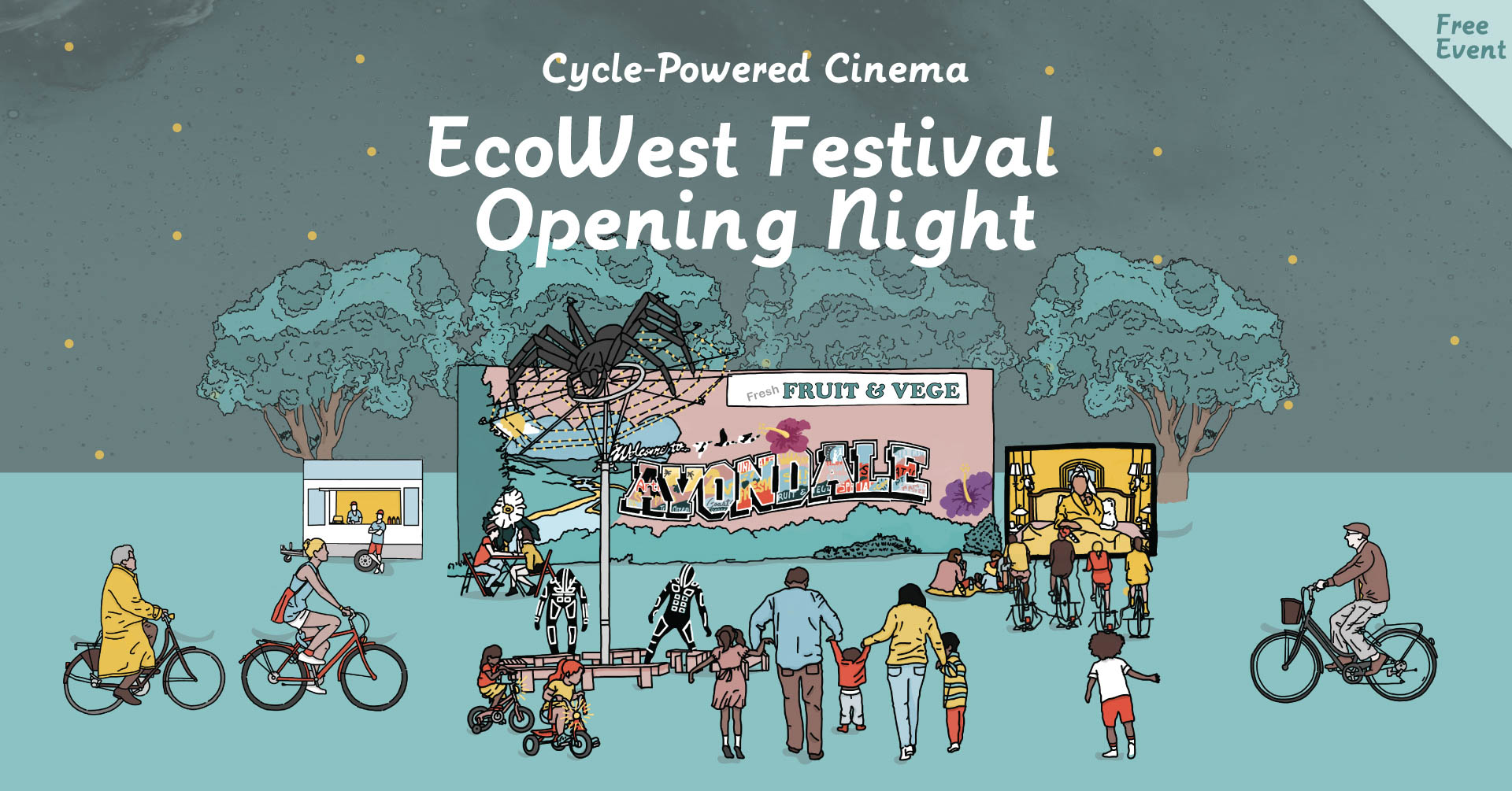 EcoWest Celebration: Cycle-Powered Cinema
