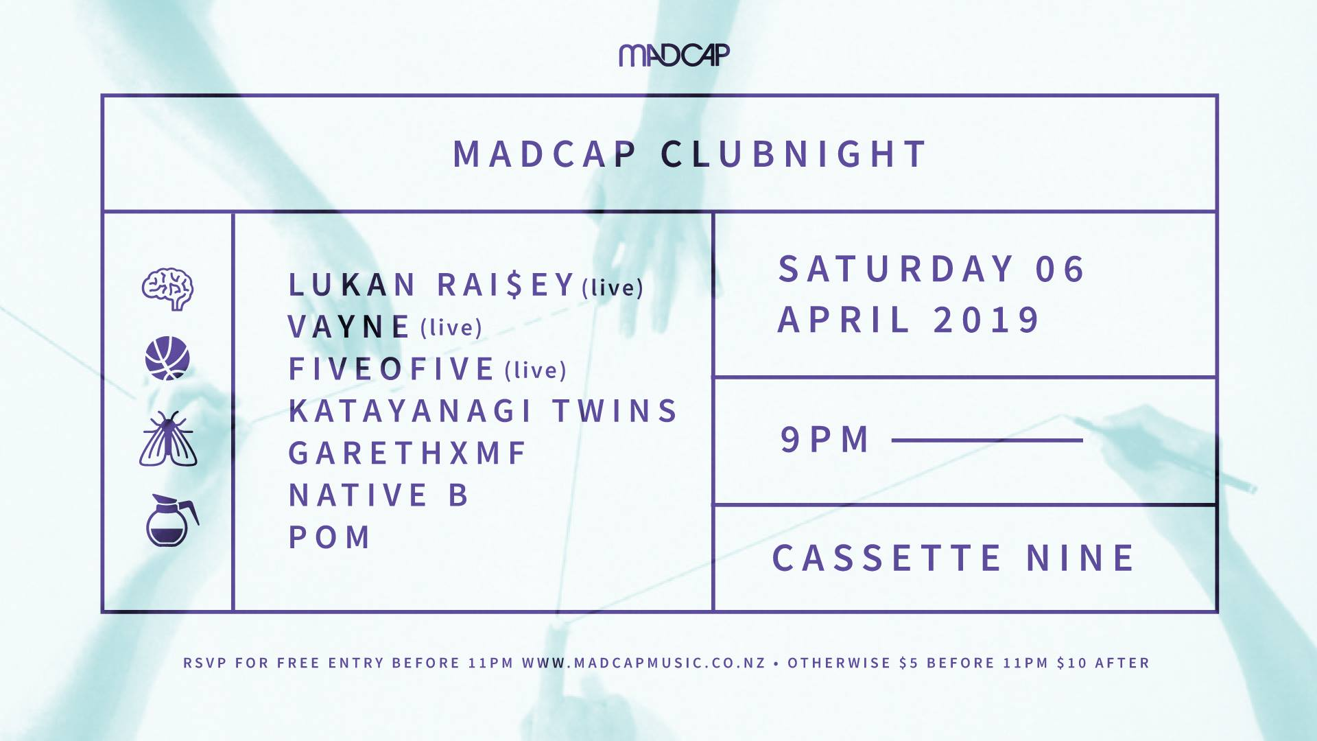 Madcap Clubnight: Lukan Raisey, Vayne, Fiveofive And More