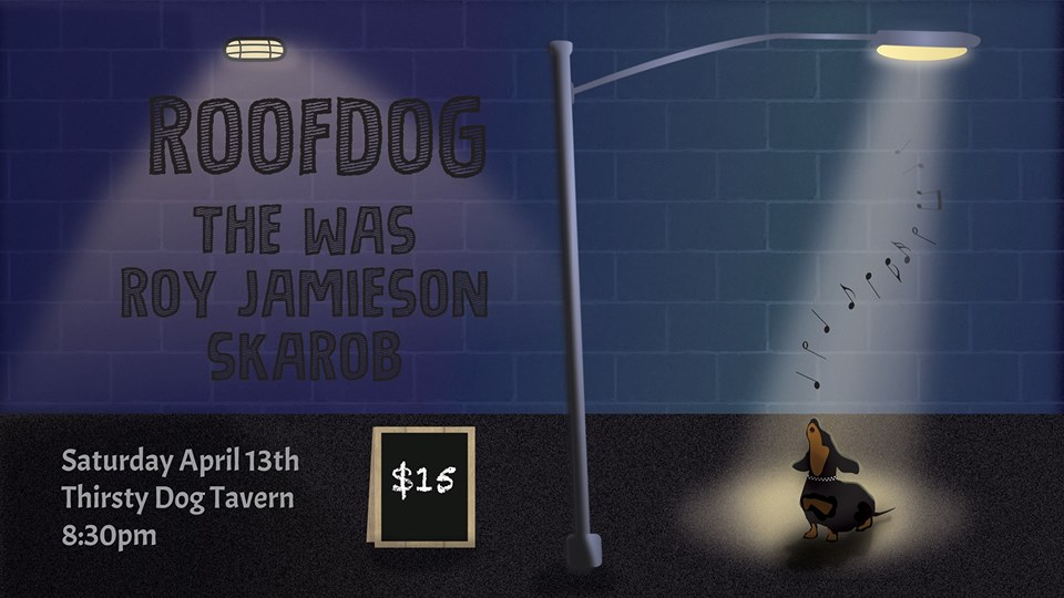 Roofdog, The Was, Roy Jamieson, Skarob.