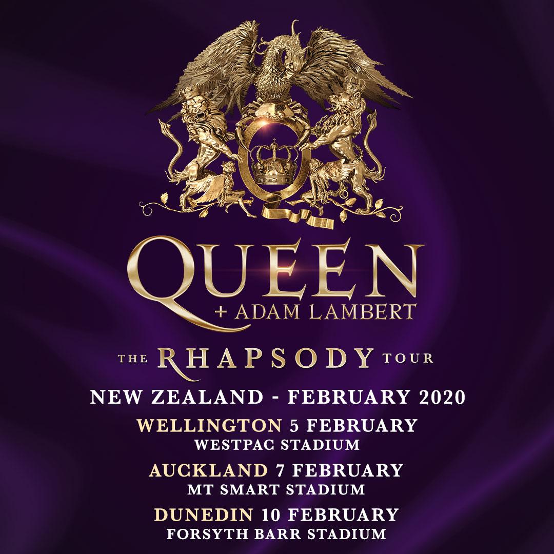 New Zealand Tours 2020 Queen + Adam Lambert   Forsyth Barr Stadium, Dunedin   Mon, 10