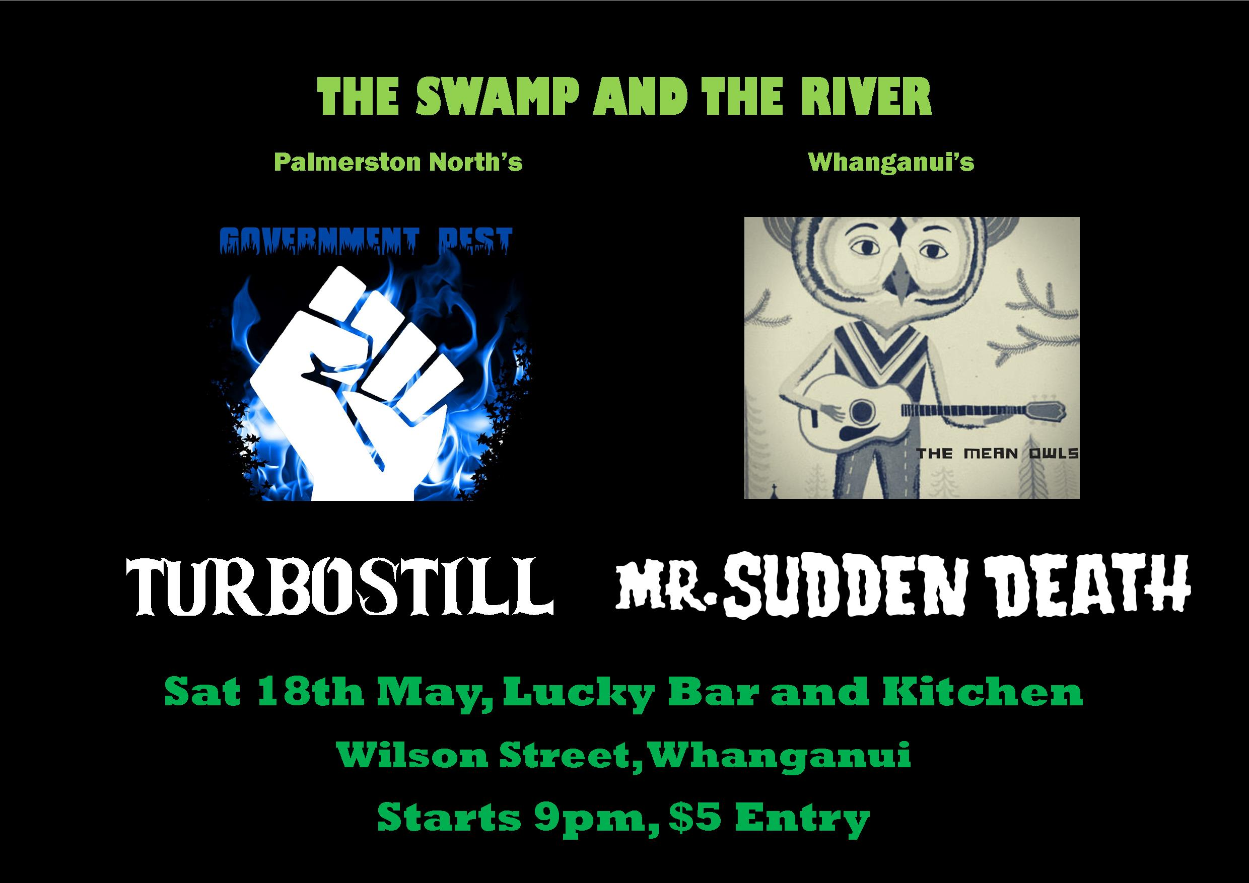 Government Pest, Turbostill, The Mean Owls, Mr Sudden Death
