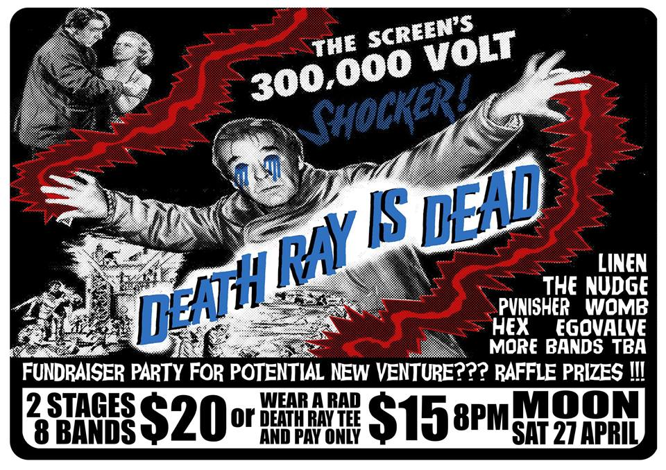 Death Ray Is Dead Fundraiser Party