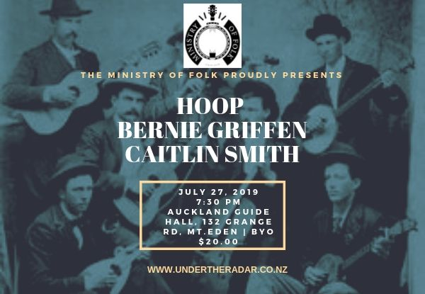 The Ministry Of Folk w/ Bernie Griffen and Caitlin Smith