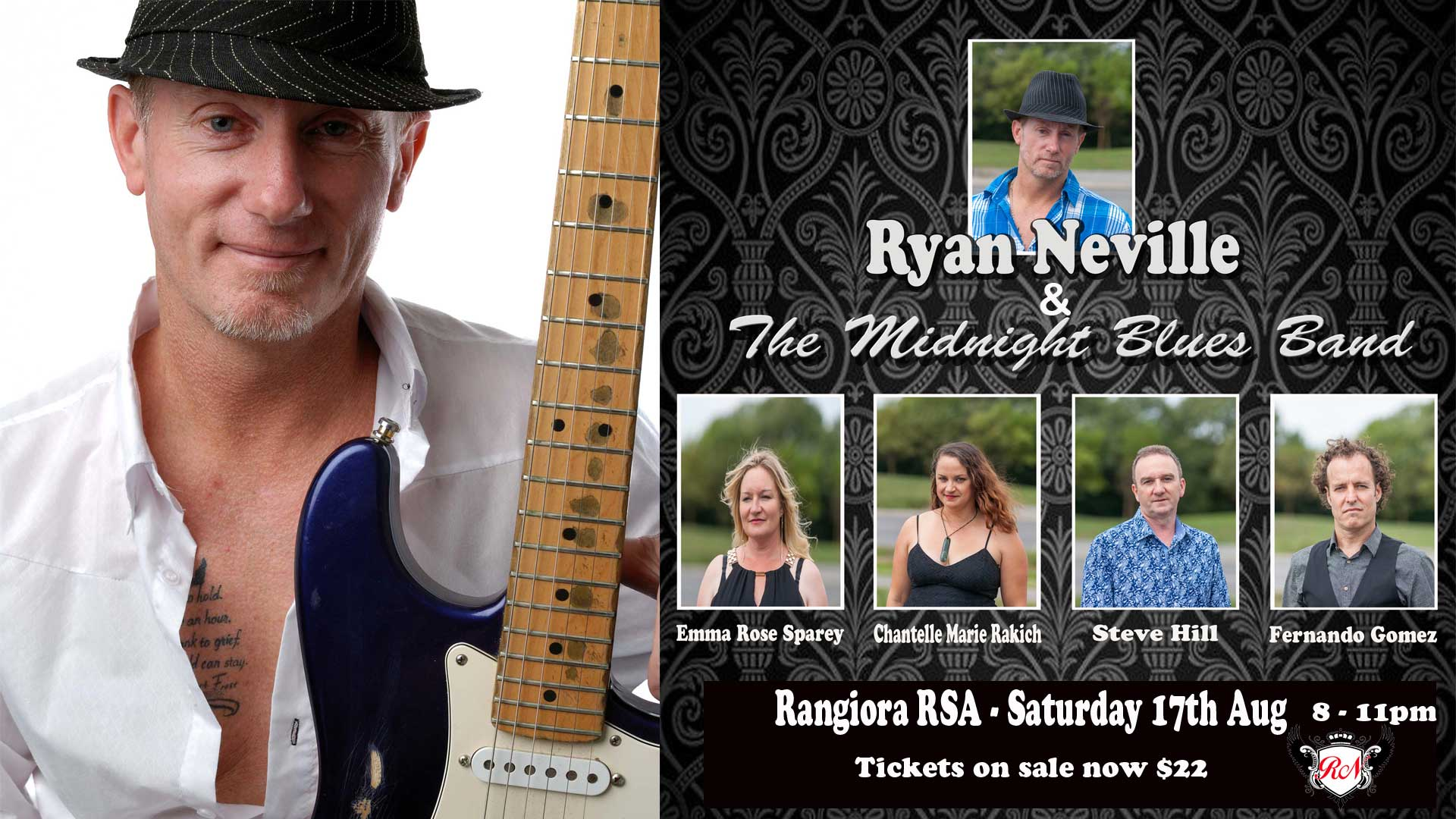 Ryan Neville and the Midnight Blues Show Band