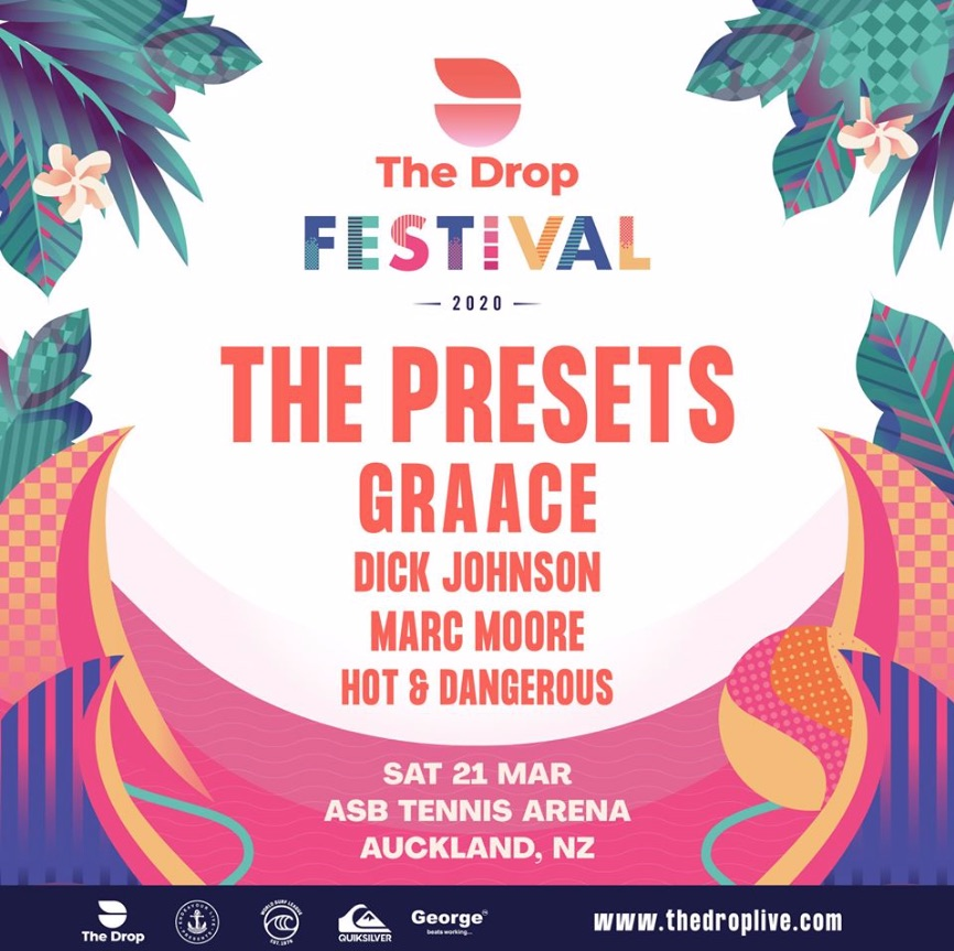 'The Drop Festival' Featuring The Presets, Graace, Dick Johnson + More - CANCELLED