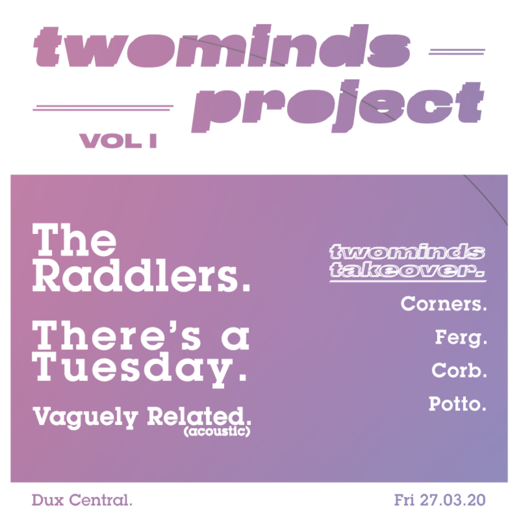 twominds project - Vol I - Cancelled