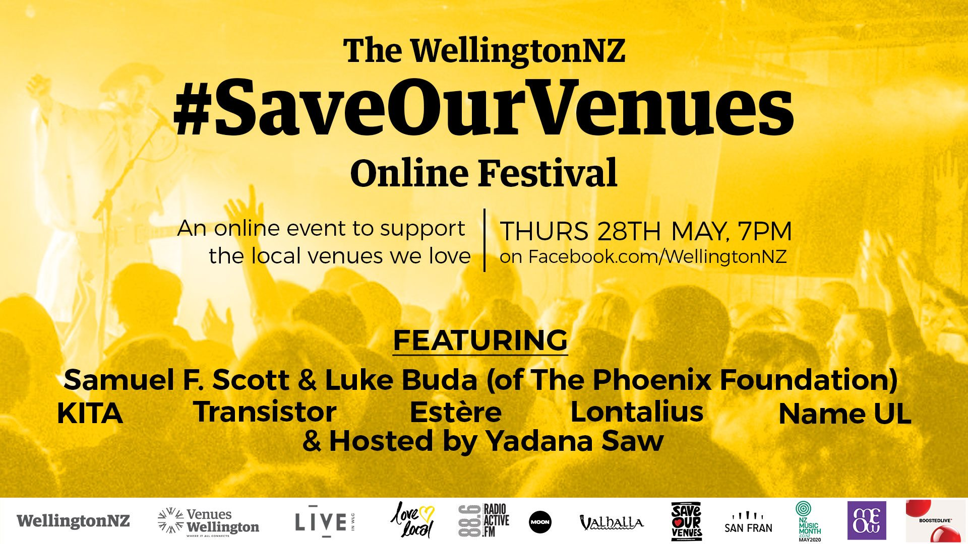The WellingtonNZ #SaveOurVenues Online Festival