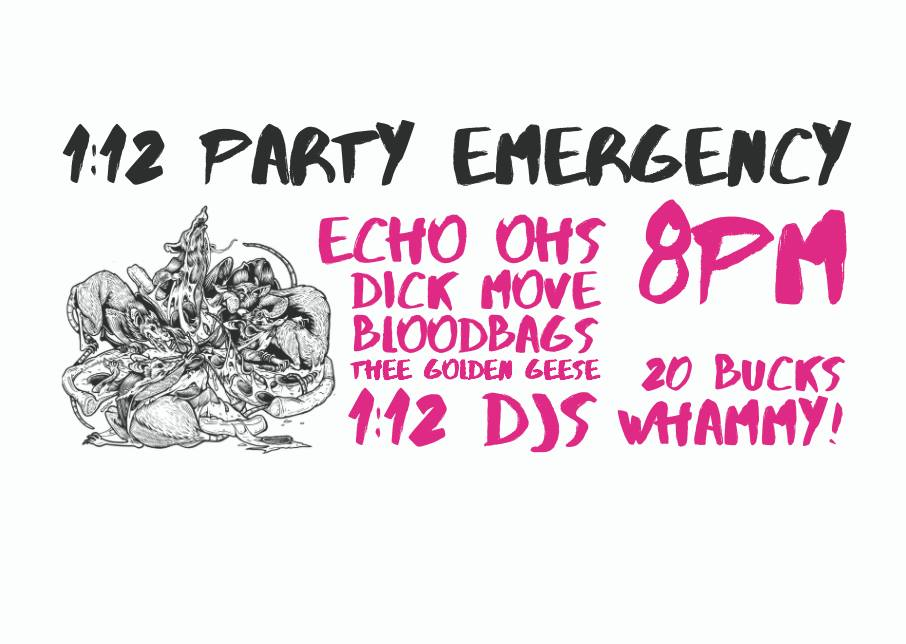 Echo Ohs, Dick Move, Bloodbags, Thee Golden Geese