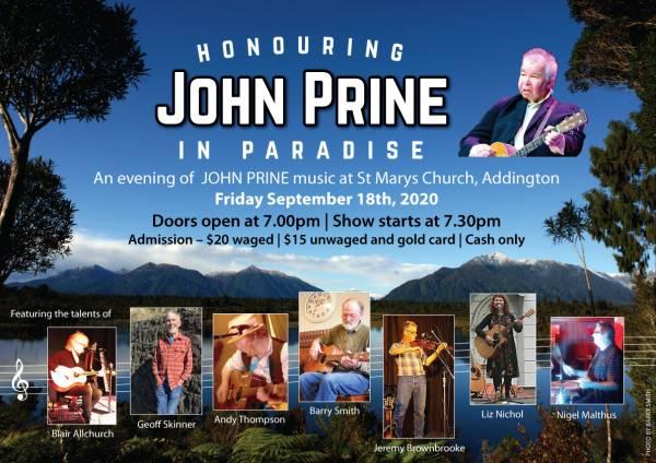 Honouring John Prine In Paradise !