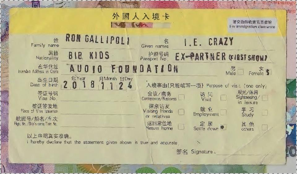 I.e. crazy, Bib Kids, Ex-Partner, Ron Gallipoli