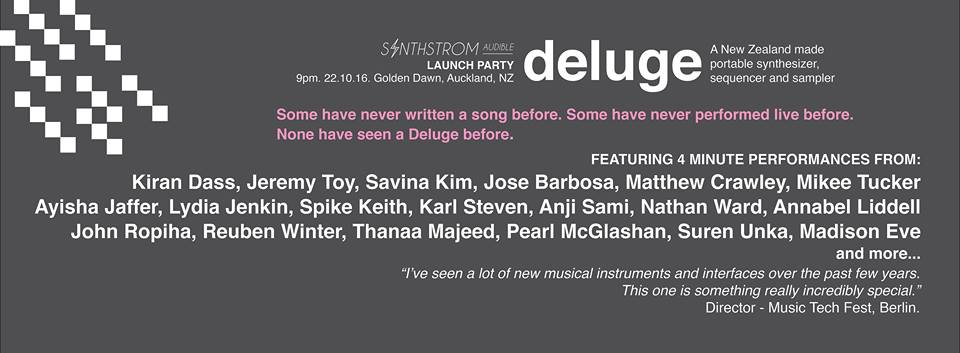 Synthstrom Audible: Deluge Launch Party
