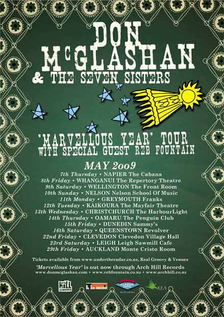 Don McGlashan and the Seven Sisters - Marvellous Year Tour