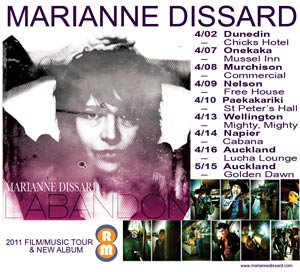 Marianne Dissard Music and Film Tour