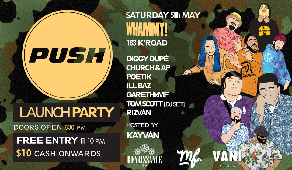 PUSH Launch Party - IllBaz, Diggy Dupe
