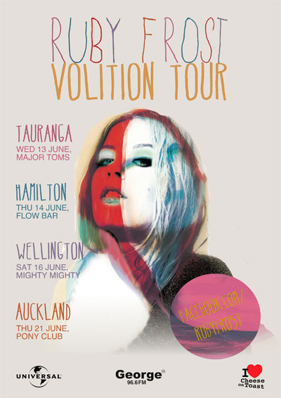 Ruby Frost Volition Tour
