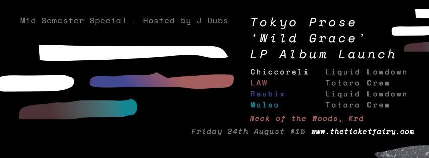 Tokyo Prose \'Wild Grace\' Album Launch